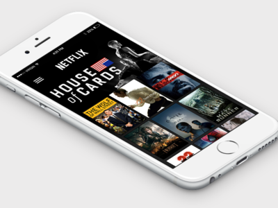 Netflix for iPhone 6 Concept [Free PSD]
