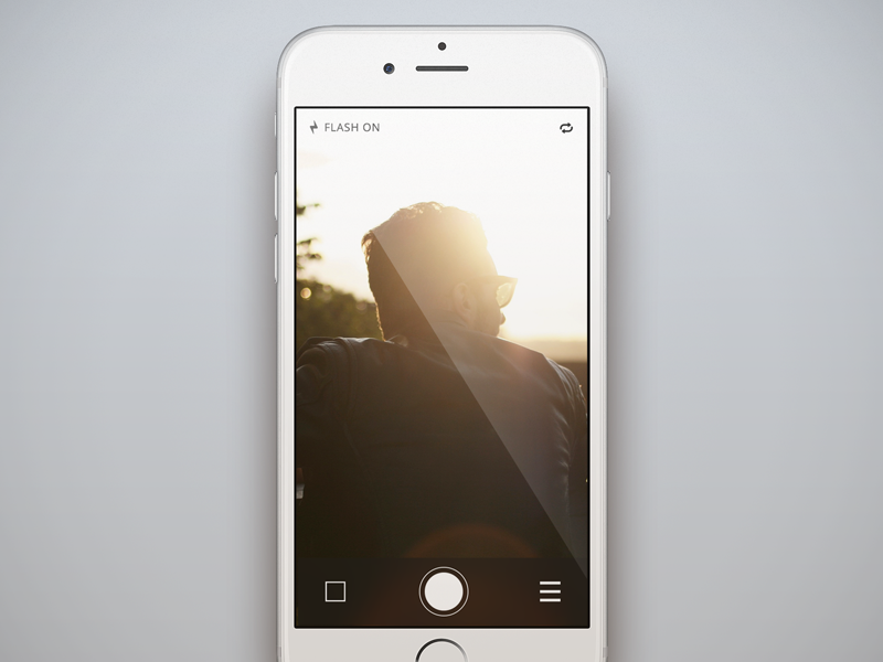 Snapchat Meets VSCO Concept [FREE PSD] snapchat vsco ios psd free freebie ui mobile image