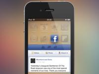 Facebook Widget Concept (PSD)