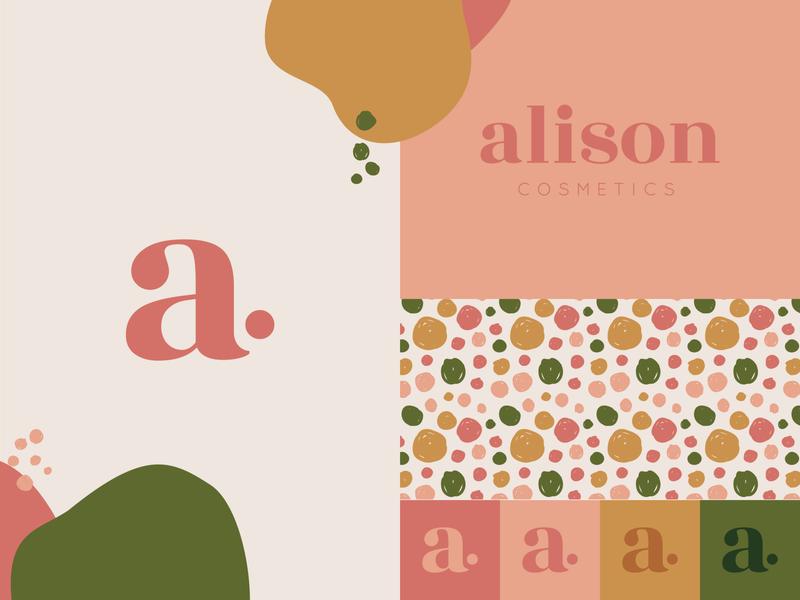 Alison Cosmetics Branding logocore feminine logo cosmetics typography logo branding design