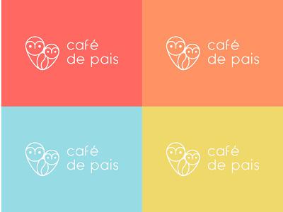 café de pais | visual identity infantil café coruja retail ecommerce kids coffee owl minimal flat vector branding logo design