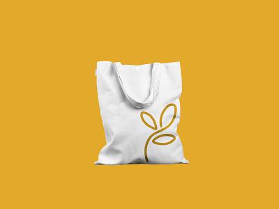 rioveg | visual identity eco folha leaf minimal flat vector branding logo design