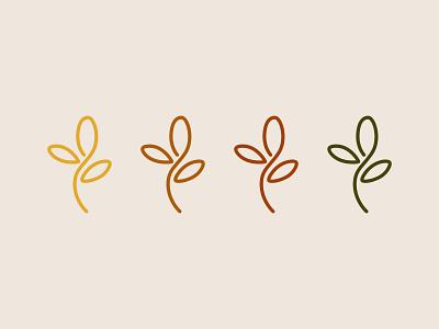 rioveg | visual identity eco folha leaf color palette minimal flat vector branding logo design