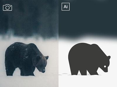 Bear illustraion photography icon vector illustration mascot branding symbol design animal logo bear