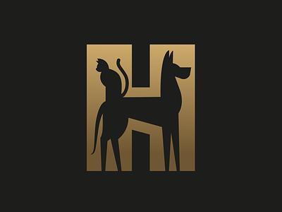 Hannover dribbble symbol minimal typography cat dog character illustration mascot branding animal logo