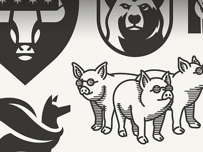 The first shot of the print minimal typography vector character illustration mascot branding design animal logo