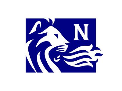 Noble Air and Heat Logo 1 minimal symbol character typography branding illustration mascot lion logo lion animal logo