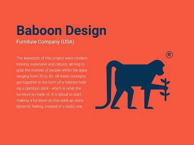 Logos with Stories -1 mark minimal design character typography monkey logo monkey baboon mascot illustration branding animal logo