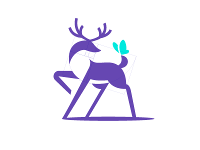 Deer deer logo design branding geometric gazelle negative negativespace logo animal