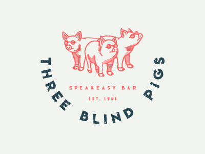 Three Blind Pigs Logo