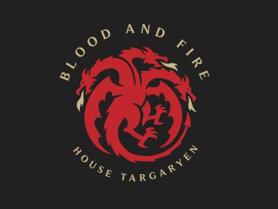 Targaryen Sigil Redesign vector animal logo designs logodesign dragons dragon symbol logo sigil game of thrones gameofthrones got targaryen