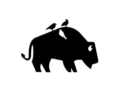 Mr Bison vector mark minimal bison character illustration branding mascot symbol design animal logo