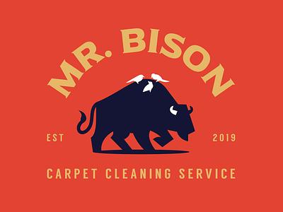 Mr. Bison bison mark negativespace vector mascot illustration character branding design symbol animal logo