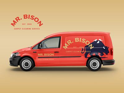 Mr Bison Branding mockup typography vector character illustration branding mascot symbol design animal logo