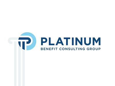 Platinum Logo & Idea icon typography concept idea minimal mark vector branding symbol design logo
