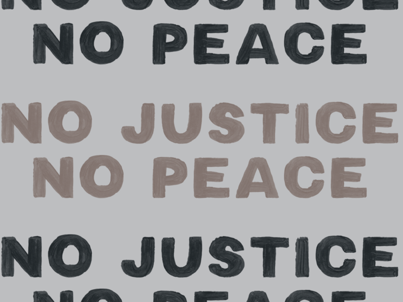 No Justice No Peace black lives matter blm