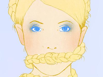 Tymoszenko portrait illustration magenta