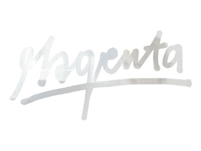 Magenta magenta handwritten