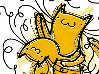 Tango cats magenta ilustration tango