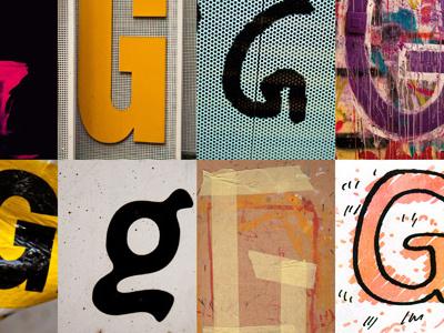 G magazine covers typography illustration magazine