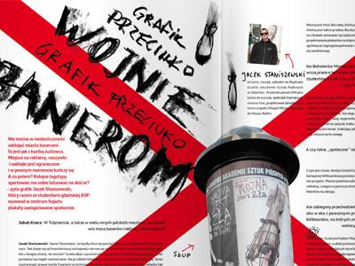 G magazine finished typography illustration magazine