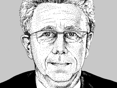 dotted portrait portrait dots illustration