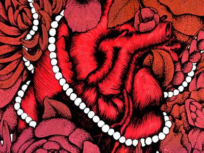 Heart heart illustration red