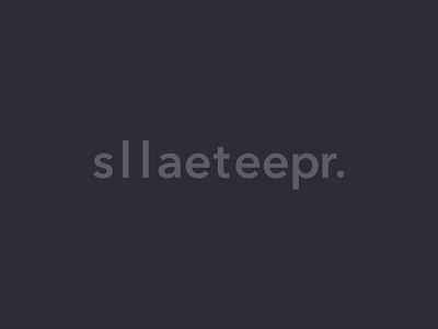 sleep later loader motion animation clean typography branding ui logo design minimal landing dark brand web wordmark loader ecommerce