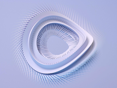 Repetition and extrusion abstract redshift c4d 3d