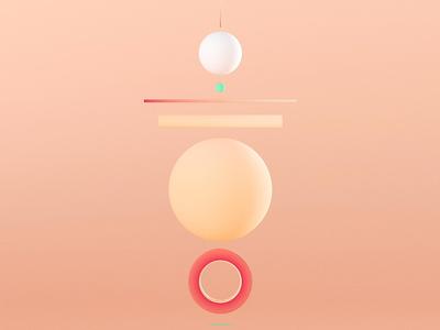 Peach shape stack