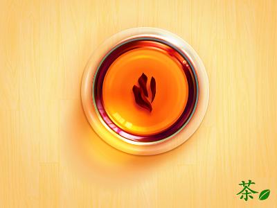 Tea glass icon tea