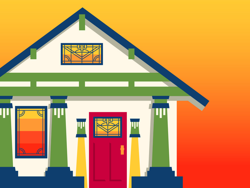 House Illustration historic home illustration craftsmen home classic home home house house illustration home illustration