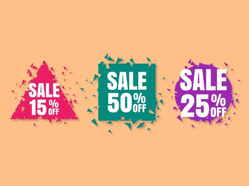 Big Sale poster, banner. Special offer special offer offer discount sale poster banner tag flat illustration vector design