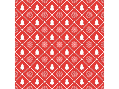 Holiday seamless pattern with christmas tree and snowflakes