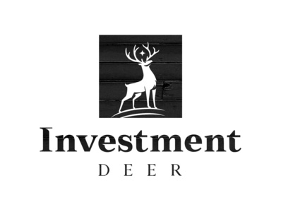Investment Deer chasing proud black  white investment logodesign logo deer logo