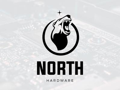 north hardware animal logo animal north hardware bearhead logodesign logo bear logo bear
