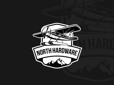 North hardware adventure black  white sky sticker mountain airplane