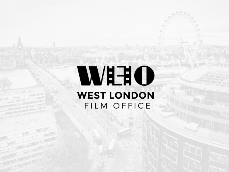 WLFO film strip london black  white movie stripe movie logo film logo film