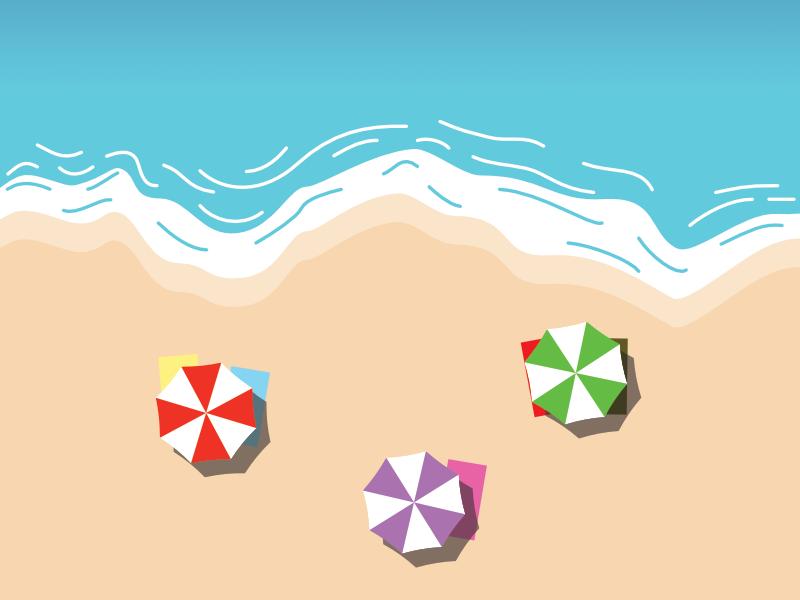 Beach illustration affinity designer summer beach