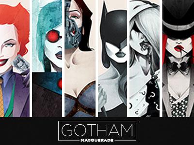Gotham Masquerade illustration design costume villain superhero women portrait character design creative comics masquerade gotham