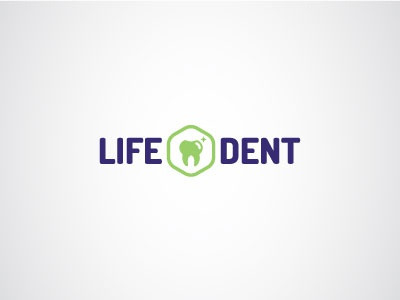 Dental Clinic Logo mark blue green branding identity medical clinic dental logo