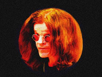 OZZY distorted warped glasses music the osbournes prince of darkness black sabbath rock star portrait osbourne ozzy