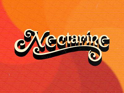 Nectarine the real zebos cover art album cover album art music groovy 1960s 60s type typography fruit tangerine nectarine