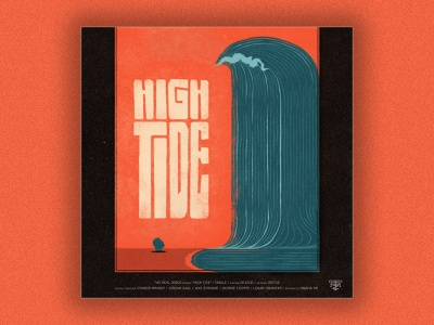 High Tide nebraska omaha band album cover album artwork cover art music beach ocean wave type typography high tide