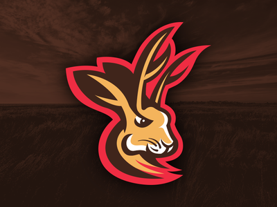 Jackalope branding identity fantasy jackalope logo sports rabbit antlers antelope austin texas