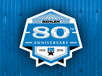Behlen 80th Anniversary Badge