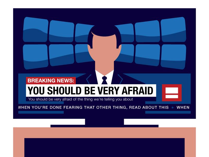 Breaking News illustration television headline anchor breaking news tv news