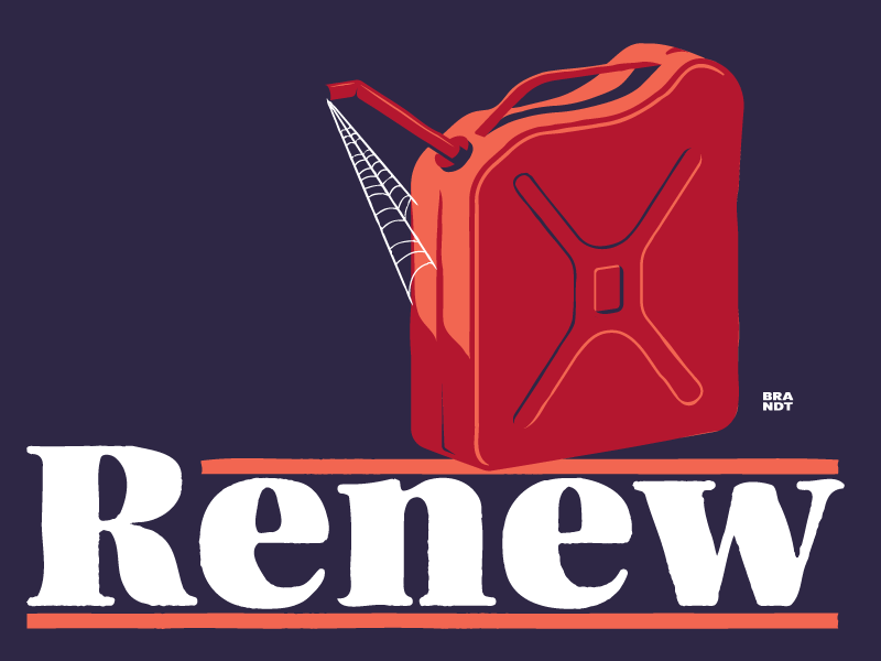 Renew  renew jerry can can gas sachplakat poster