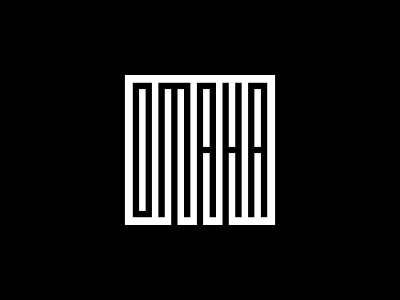 Omaha Shirt black  white square geometric nebraska design t-shirt shirt omaha