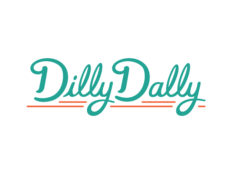 Dilly Dally  typography script vintage retro dilly dally logo candy